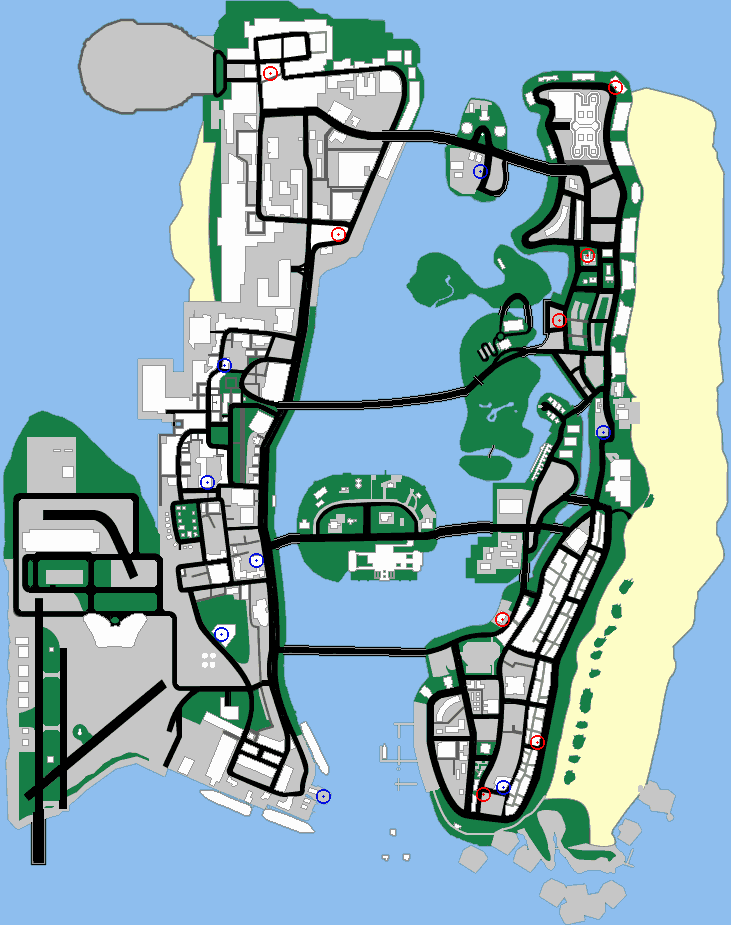 Vice City Map Properties Property (Home and Bus...